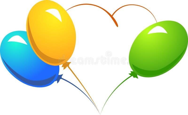 Coração de Baloon ilustração stock