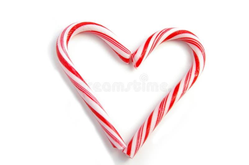 Coração de Candycane imagens de stock royalty free