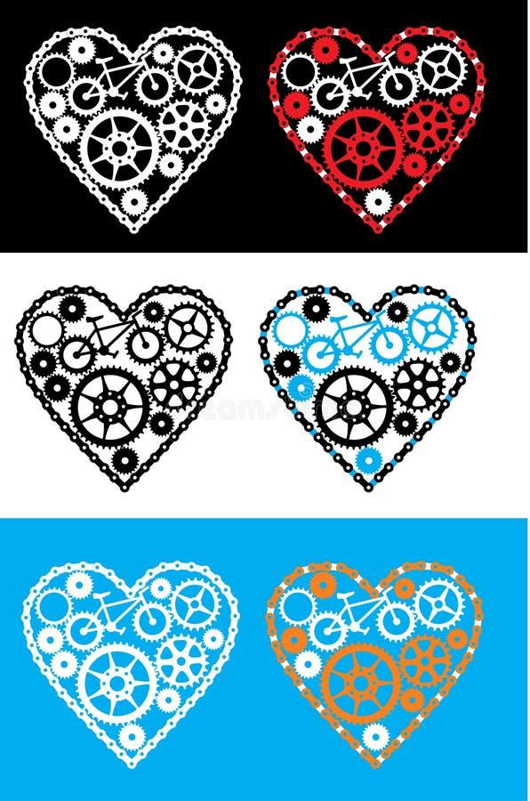 Coração de ciclagem ilustração stock
