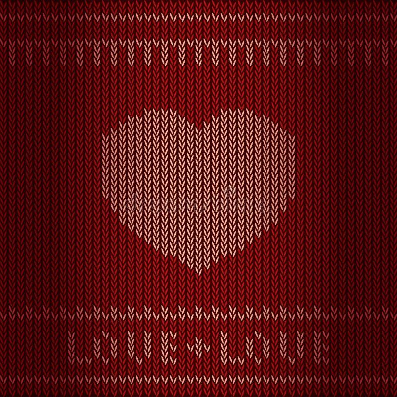 Coração de confecção de malhas ilustração stock