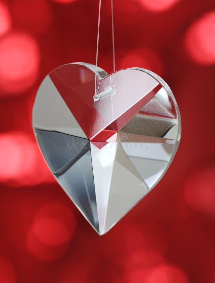 Coração de cristal fotografia de stock royalty free