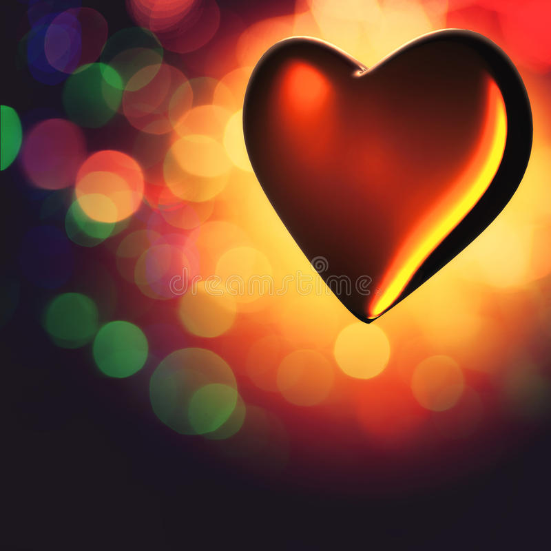 Coração de cristal. imagens de stock