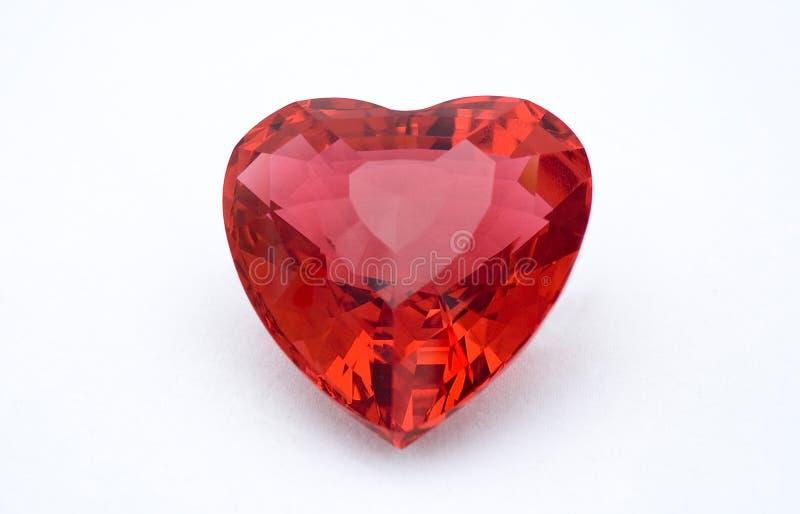 Coração de cristal vermelho imagens de stock
