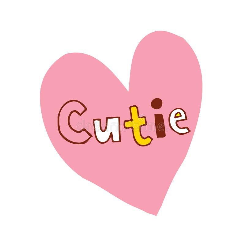 Coração de Cutie ilustração do vetor