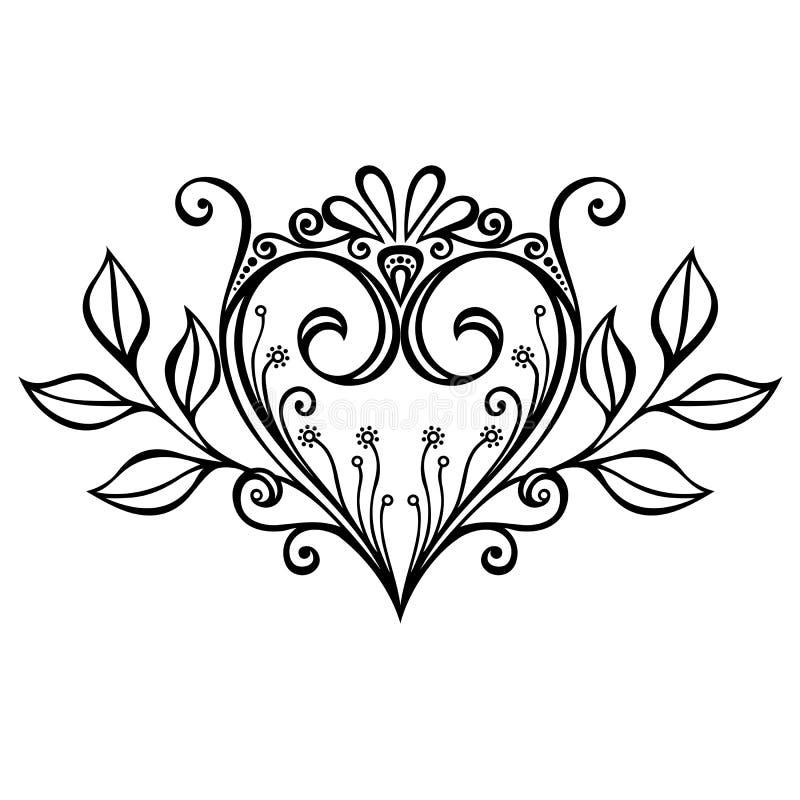 Coração de Deco ilustração stock