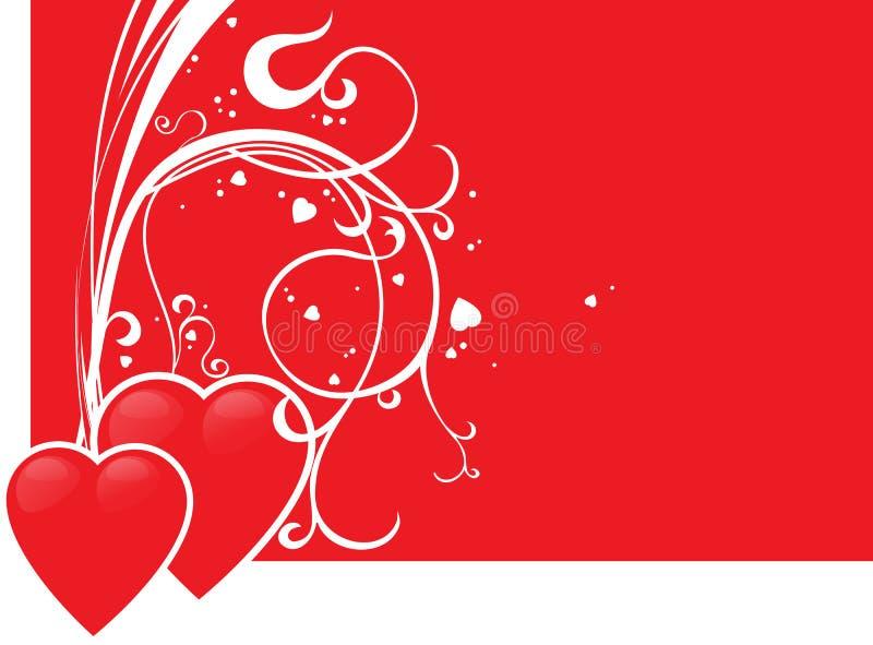 Coração de dois vermelhos ilustração stock