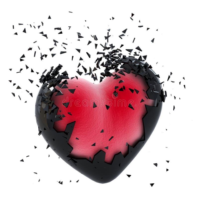 Coração de explosão ilustração royalty free