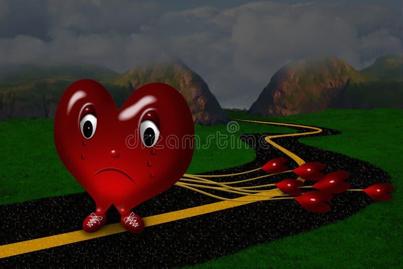 Coração de grito triste ilustração royalty free