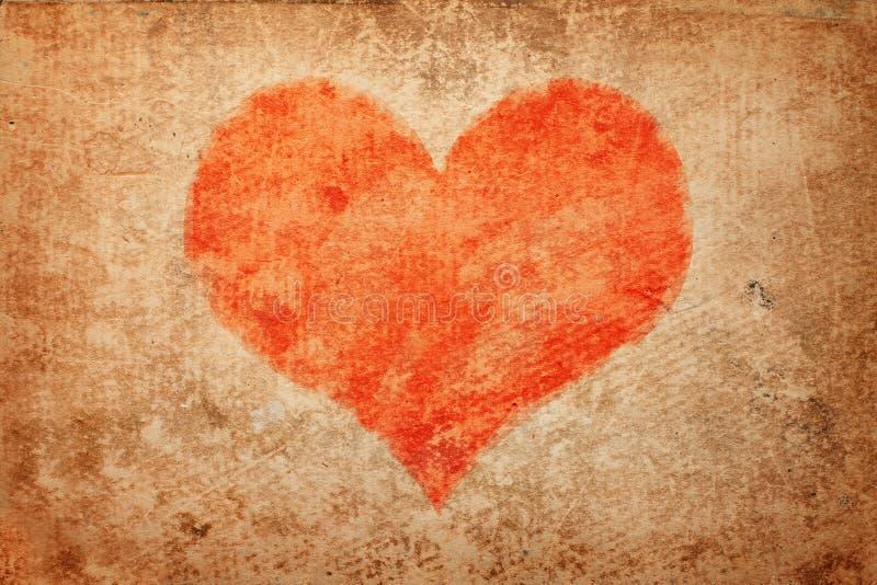 Coração de Grunge. Dia do Valentim fotos de stock