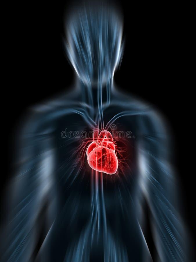 Coração de Inflammated ilustração stock