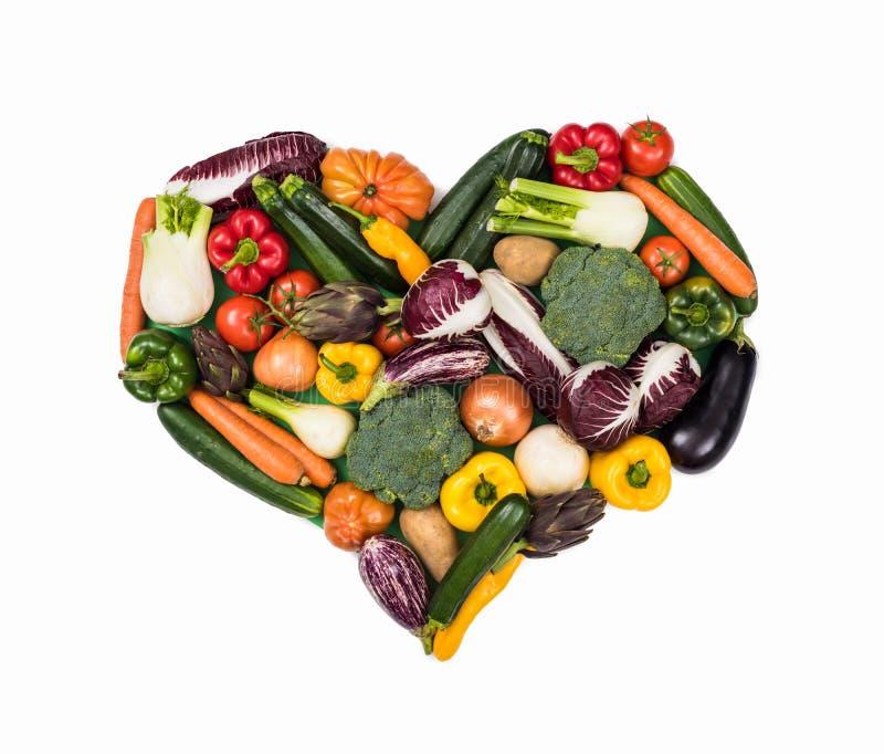 Coração de legumes frescos imagem de stock royalty free
