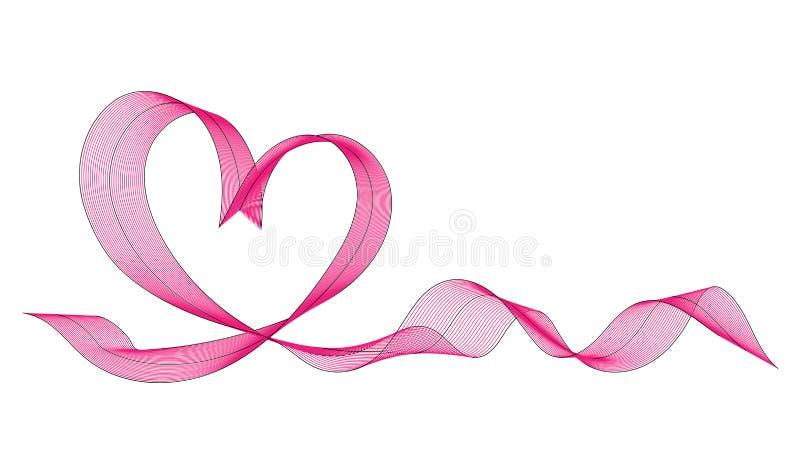 Coração de muitas linhas coloridas Fundo para o dia do ` s do Valentim do St ilustração royalty free