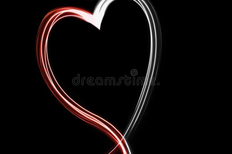 Coração de néon da linha foto de stock royalty free