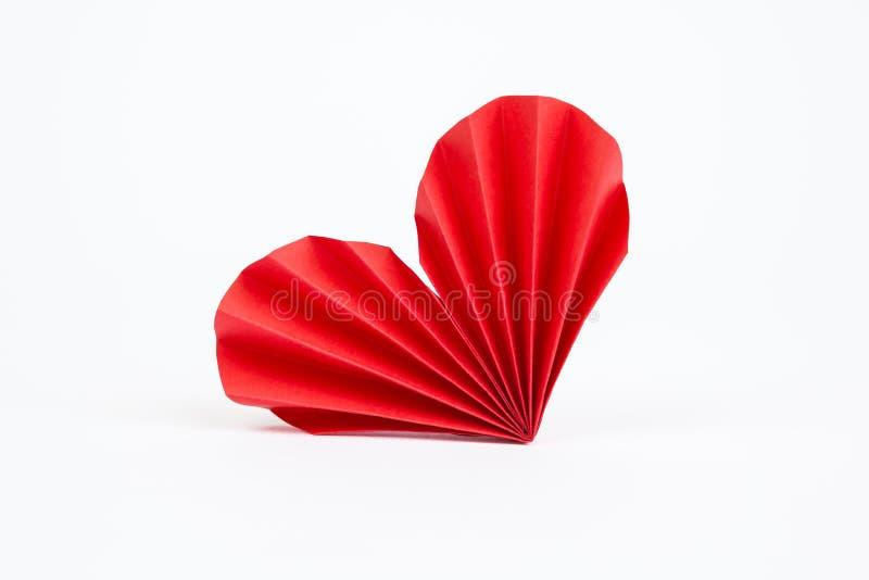 Coração de Origami fotografia de stock