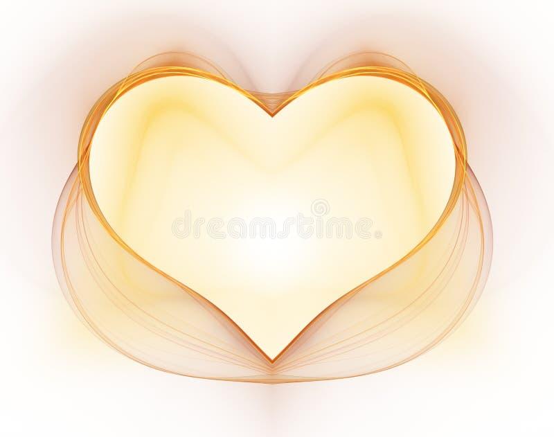 Coração de queimadura e batendo Valentine& x27; fundo do dia de s ilustração do vetor