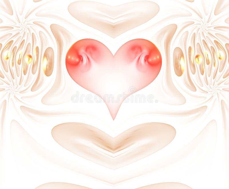 Coração de queimadura e batendo Valentine& x27; fundo do dia de s ano novo feliz 2007 ilustração stock