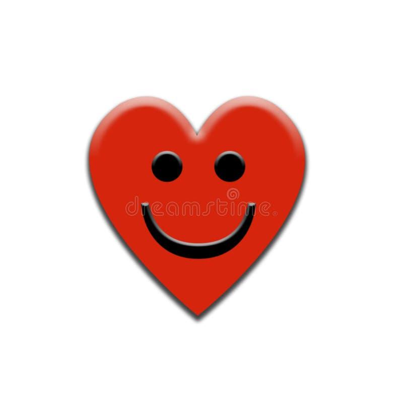 Coração de sorriso ilustração royalty free