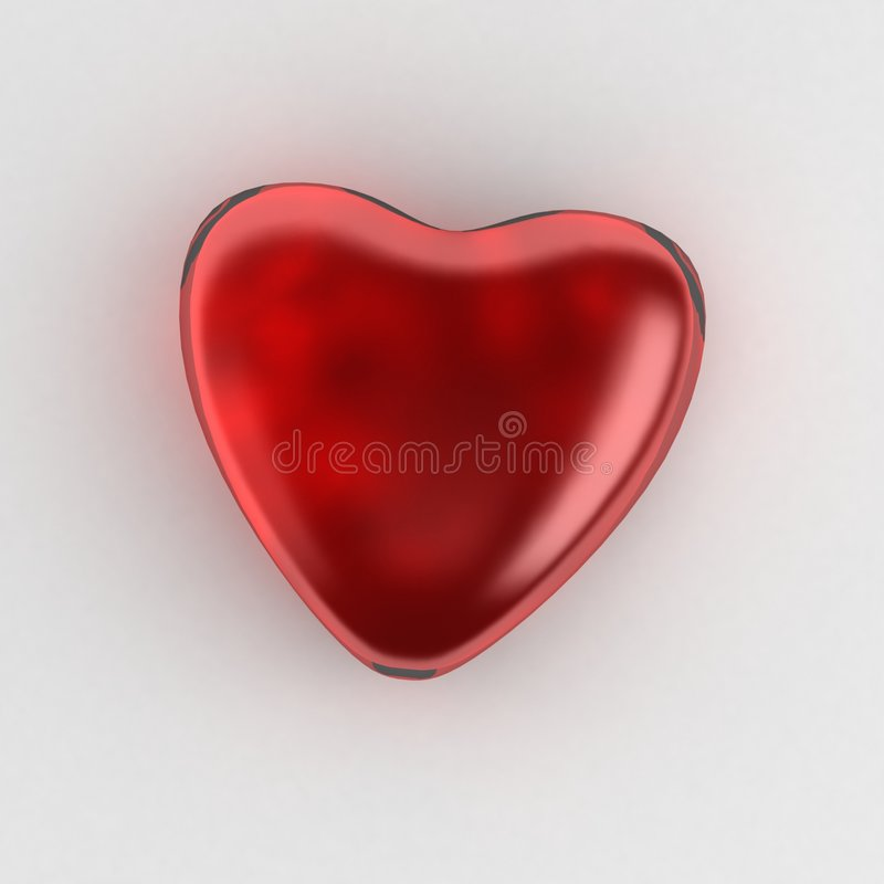 Coração de vidro ilustração stock