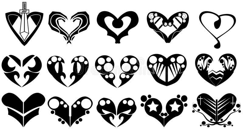 Coração decorado ilustração royalty free