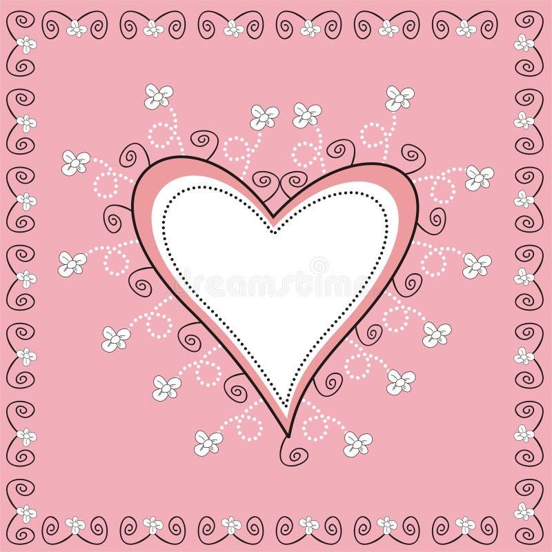 Coração decorativo ilustração royalty free