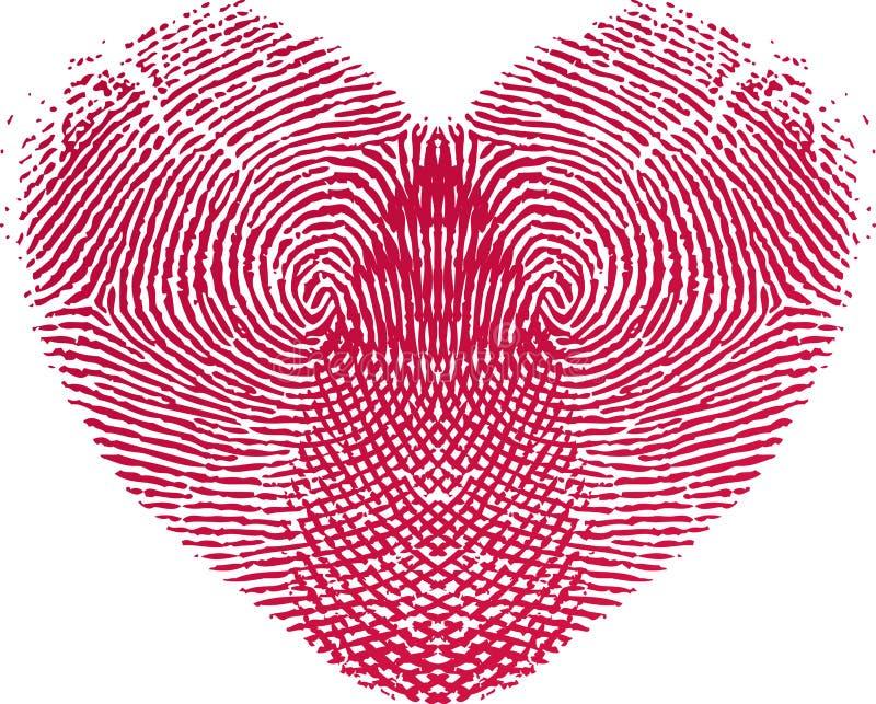Coração do amor da impressão digital