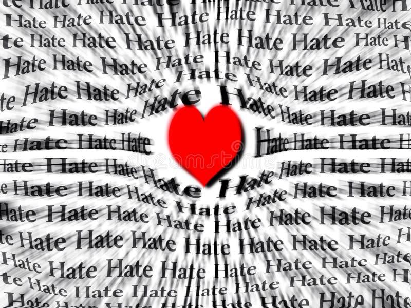 Coração do amor mais poderoso do que o ódio foto de stock