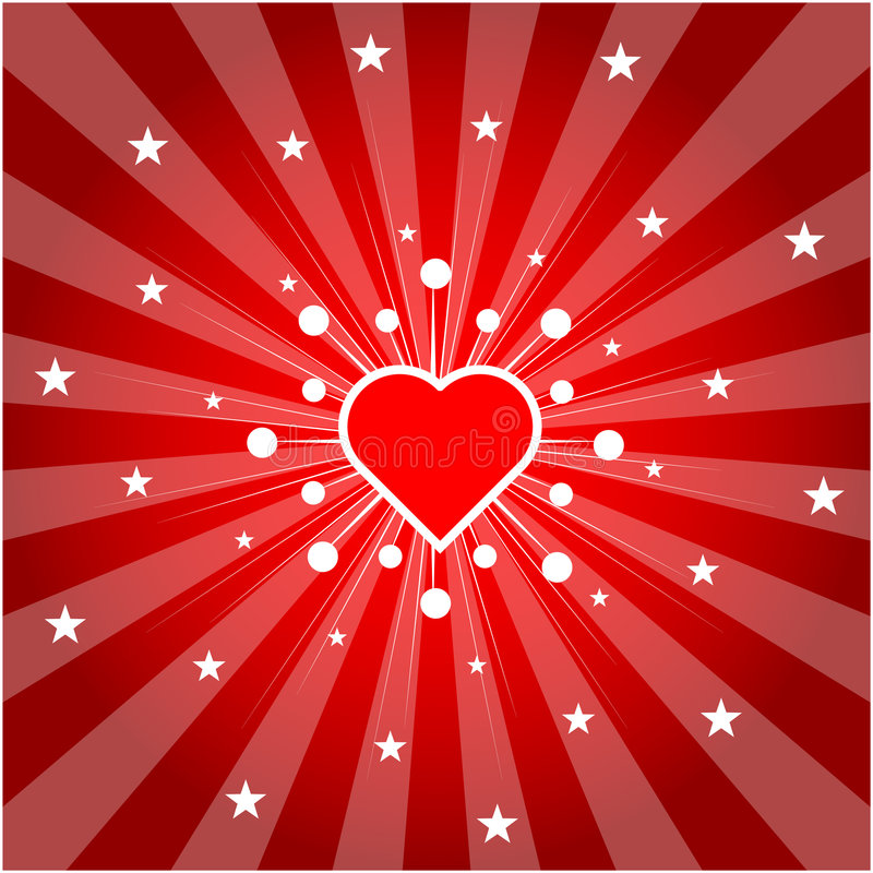 Coração do amor (vetor) ilustração do vetor
