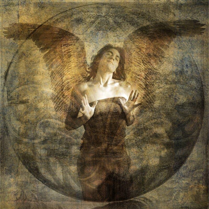 Coração do anjo ilustração royalty free