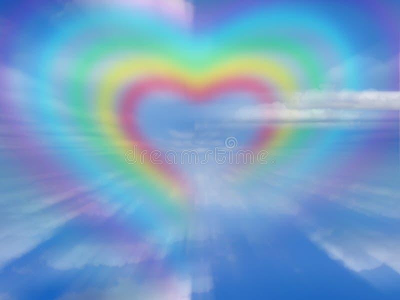 Coração do arco-íris ilustração do vetor