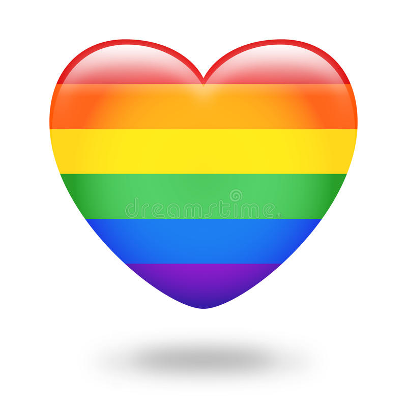 Coração do arco-íris ilustração royalty free