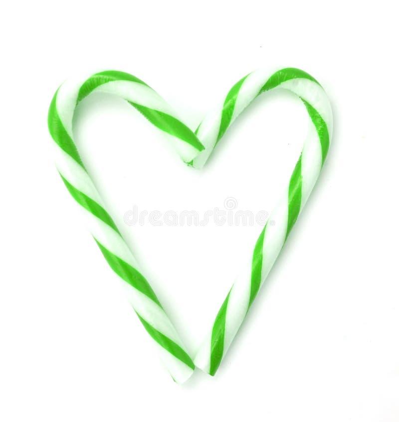 Coração do bastão de doces fotos de stock royalty free