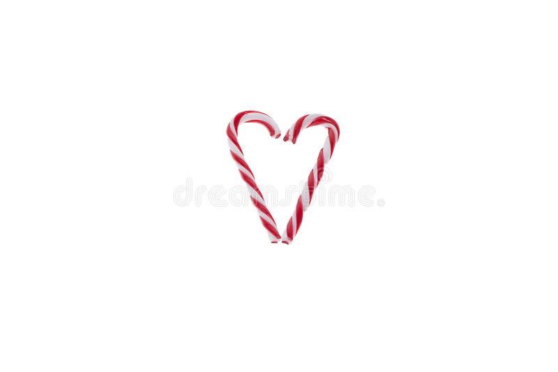 Coração do bastão de doces fotos de stock