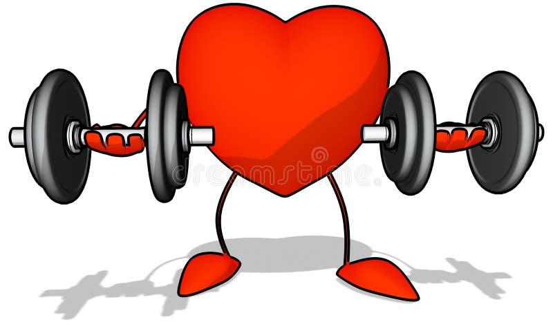 Coração do Bodybuilding ilustração do vetor