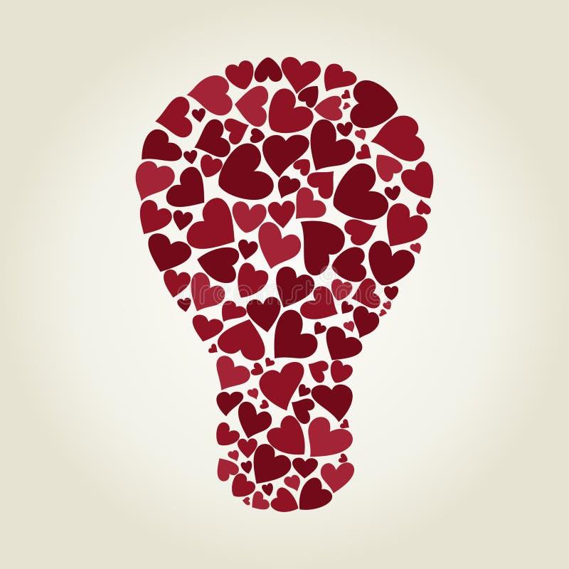 Coração do bulbo ilustração royalty free