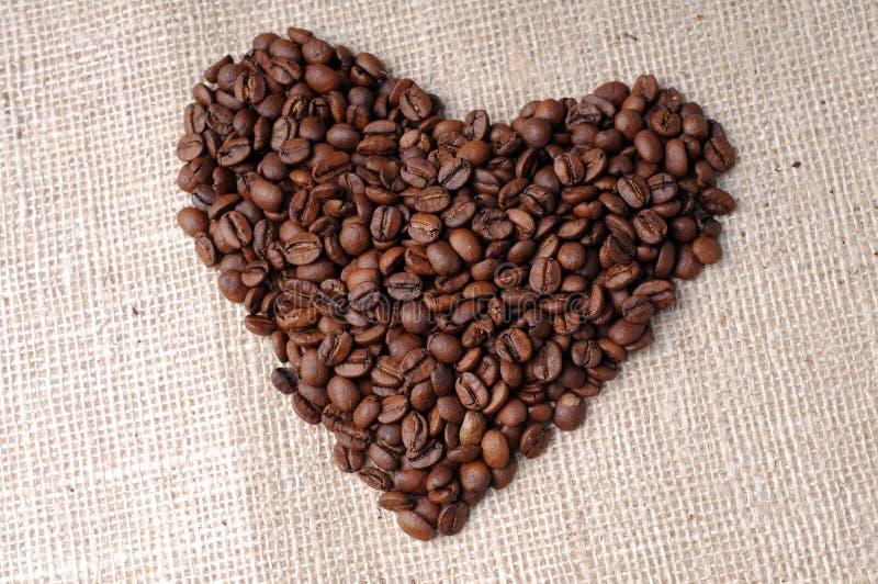 Coração do café fotos de stock royalty free