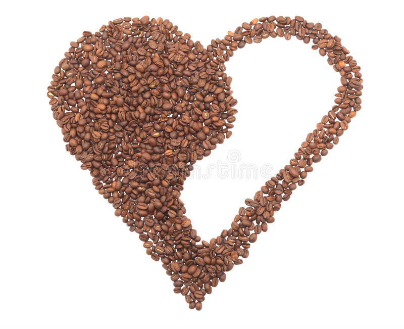 Coração do café em um yin-yang amável. fotografia de stock
