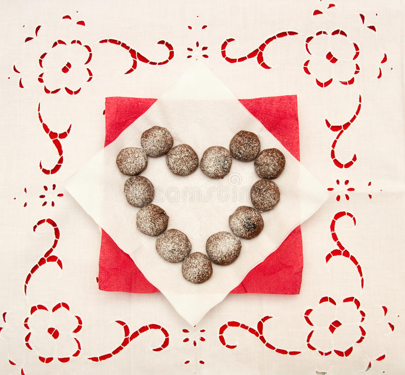 Download Coração do chocolate foto de stock. Imagem de valentine - 12808700