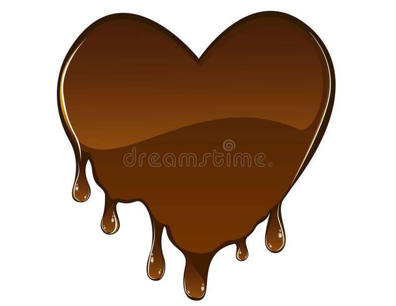 Coração do chocolate ilustração do vetor