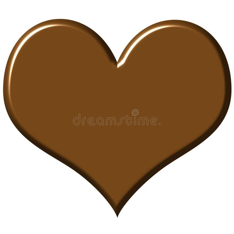 Coração do chocolate ilustração stock
