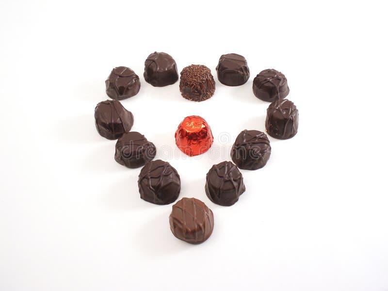 Coração do chocolate imagens de stock