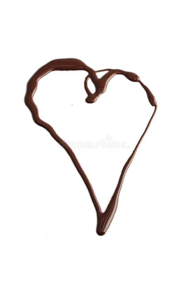 Coração do chocolate fotografia de stock