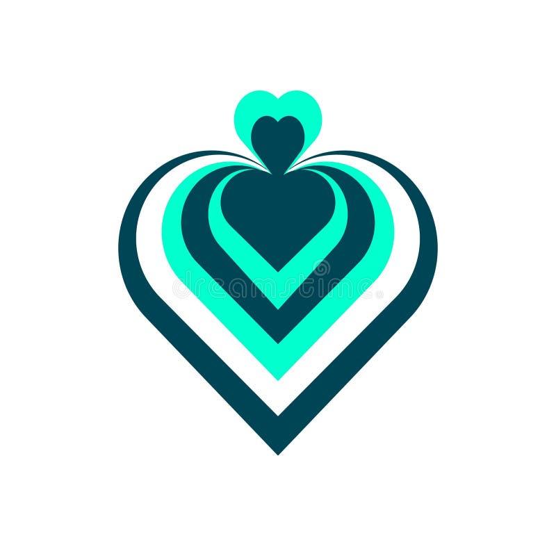 Coração do desenhista Logotipo, ícone ilustração royalty free