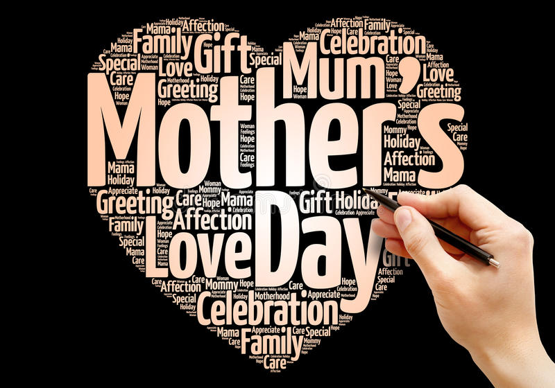 Coração do dia do ` s da mãe fotografia de stock royalty free