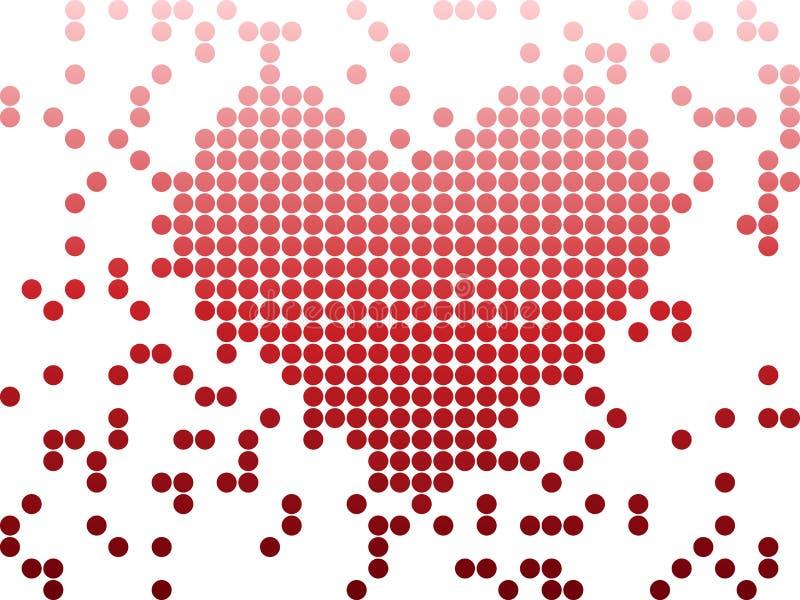 Coração do dia do Valentim do amor de Digitas ilustração royalty free