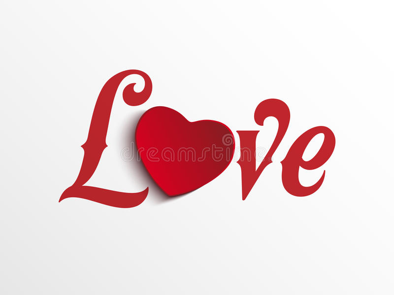 Coração do dia do Valentim eu te amo ilustração stock