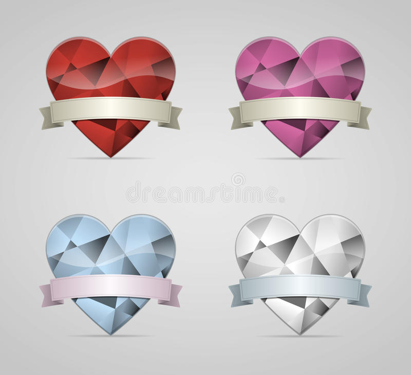 Coração do diamante ilustração stock