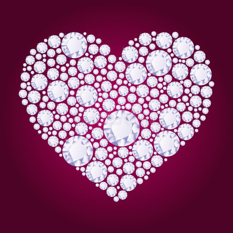 Coração do diamante do vetor ilustração royalty free