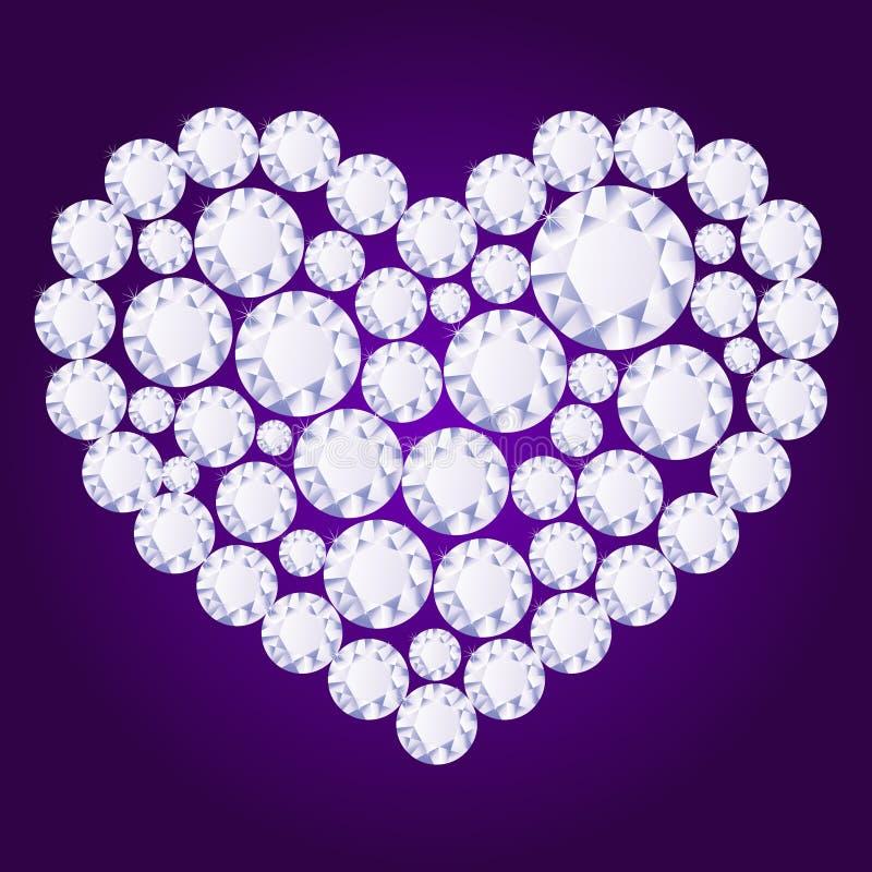 Coração do diamante do vetor ilustração stock
