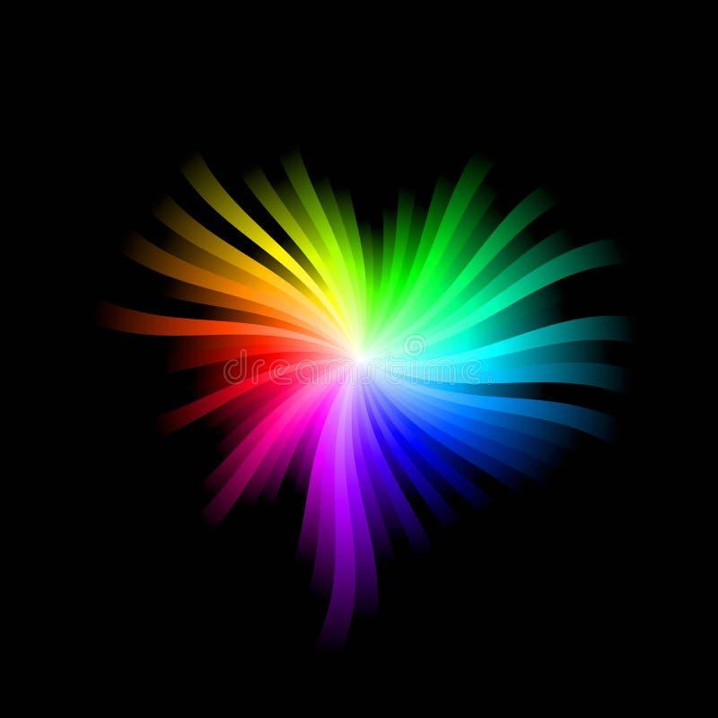 Coração do espectro ilustração do vetor