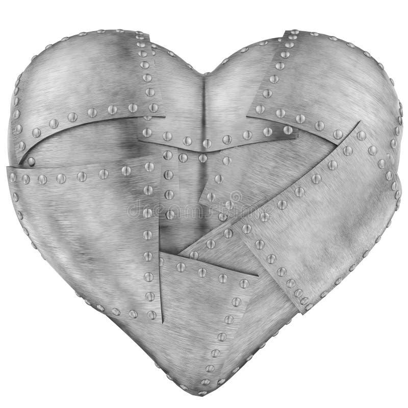 Coração do ferro ilustração stock